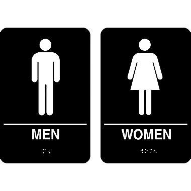 men bathroom sign cosco 174 ada restroom signs men women 6 quot x 9 quot staples 174