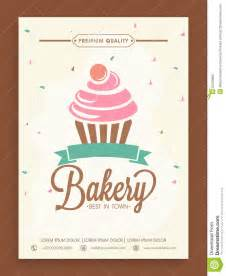 stylish flyer or menu card for bakery shop stock photo