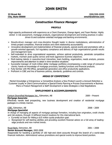 Construction Accountant Sle Resume by Construction Finance Manager Resume Template Premium Resume Sles Exle