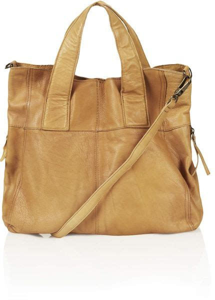 Name Albas Bag by Leather Tote Bag Topshop Brown Leather Tote Bag