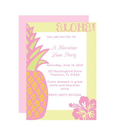 printable invitations hawaiian party hawaiian free printable party invitation from