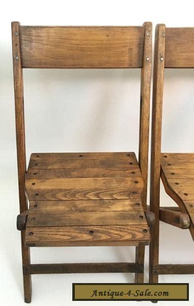 vintage wood folding chairs value vintage antique snyder wood oak wooden folding chairs set