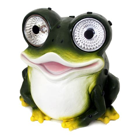 Solar Powered Outdoor Garden Large Frog Decorative Solar Frog Light