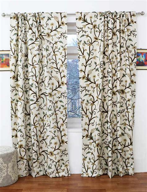 wool curtain panels grapes handmade crewel curtain panel wool embroidered