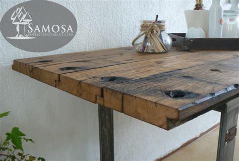eiken tafelblad nijmegen samosa ontwerp op maat oud eiken samosa ontwerp op maat
