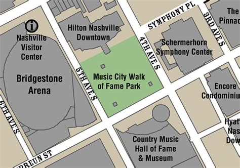 walk of fame map city walk of fame nashville walk of fame visitmusiccity
