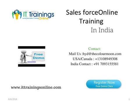 Salesforce Developer Online Training Authorstream Salesforce Powerpoint Template