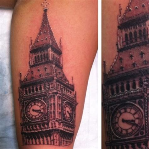 Arm Sleeve Tattoo Clock
