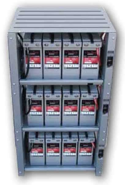 Shelf Of A Battery outback indoor 3 shelf integrated battery rack