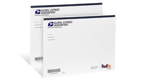 Business Letter Via Overnight Mail Fast International Shipping Global Express Services Usps