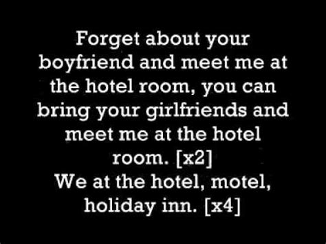 Pitbull Hotel Room Lyrics by Hotel Room Service Lyrics Pitbull