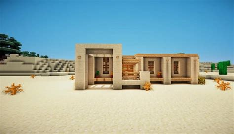 how to make a desert survival house minecraft house design