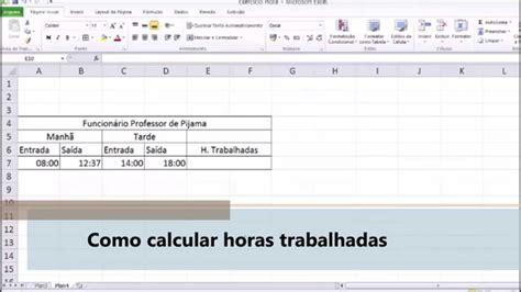 como calcular a hora extra de frentista de posto como calcular horas trabalhadas no excel professor de