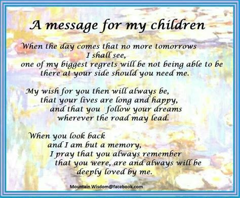 a message for my children think about it pinterest