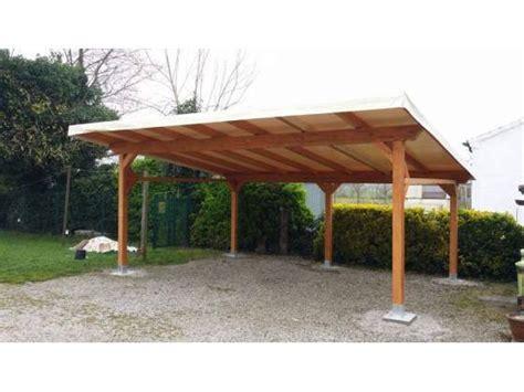 tettoia in legno autorizzazione tettoia 2 posti auto 600x500 cm con telo pvc a