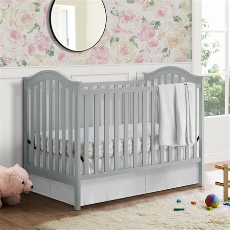 Dorel Living Baby Relax Adelyn 2 In 1 Convertible Crib Gray Baby Relax Crib