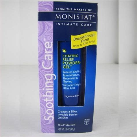 new monistat soothing care anti chafing relief powder gel