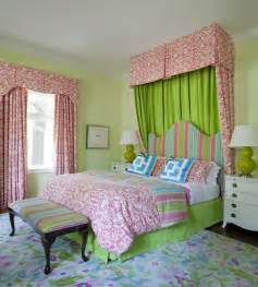 pink and green bedroom hollywood regency bedroom