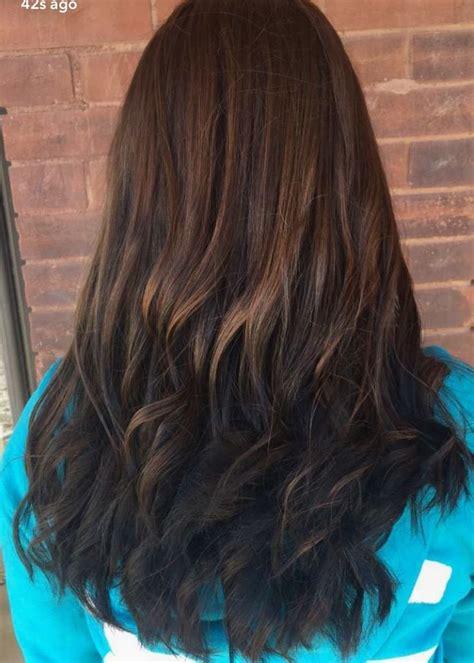 reverse ombre highlights brunette reverse ombr 233 hair pinterest brunettes