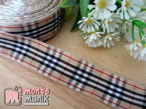 Pita Jelujur Biru Muda Roll pita gingham merah 1 atau 2 5 cm pita 139 montemanik