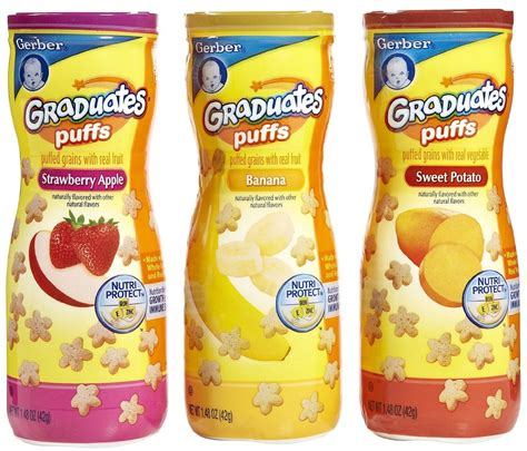 Gerber Puff gerber graduates puffs variety pack baby food and