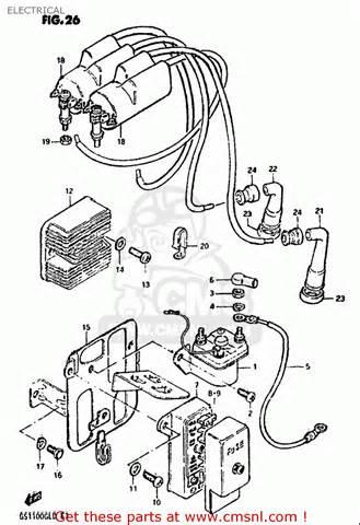 suzuki gs1100 gl 1982 1983 usa electrical schematic partsfiche