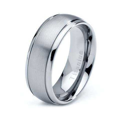 Titanium Rings by Titanium Wedding Band Titanium Rings Mens Wedding