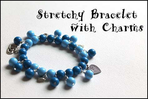 how to make stretch rings jewelry how to make a stretch bracelet with dangles and charms