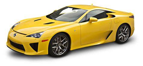 yellow lexus lfa yellow lexus lfa car png image pngpix