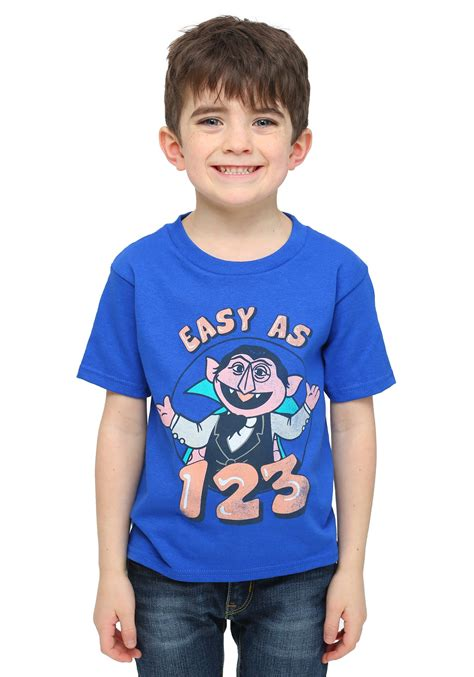 toddler boys sesame count 123 toddler boys t shirt