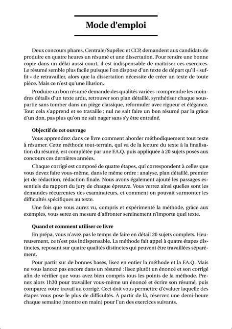 Resume D Un Texte by H K 20 R 233 Sum 233 S