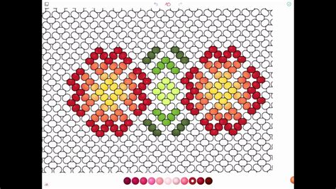 bead pattern maker app huichol beading with recolor app youtube