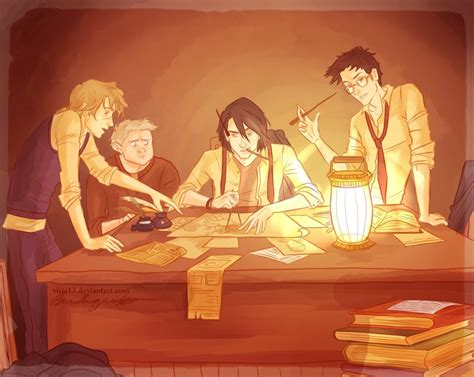 the making of the marauders map by viria13 on deviantart
