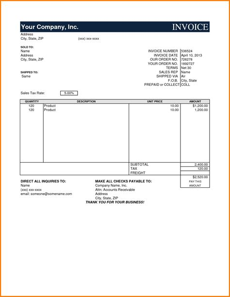 model invoice template invoice template ideas