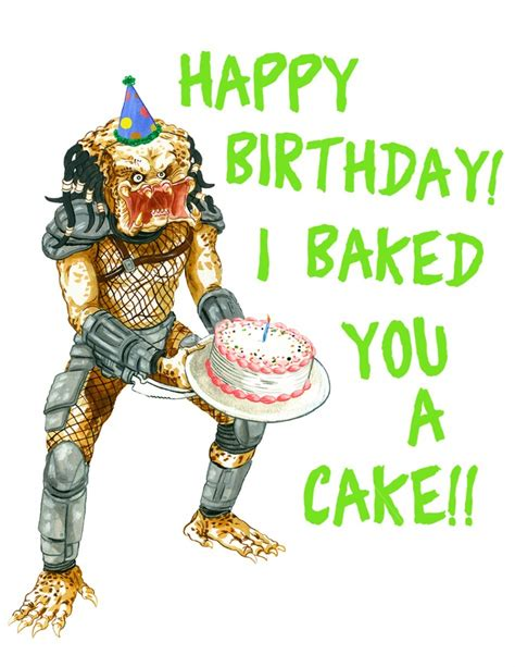 Xenomorph Birthday Card