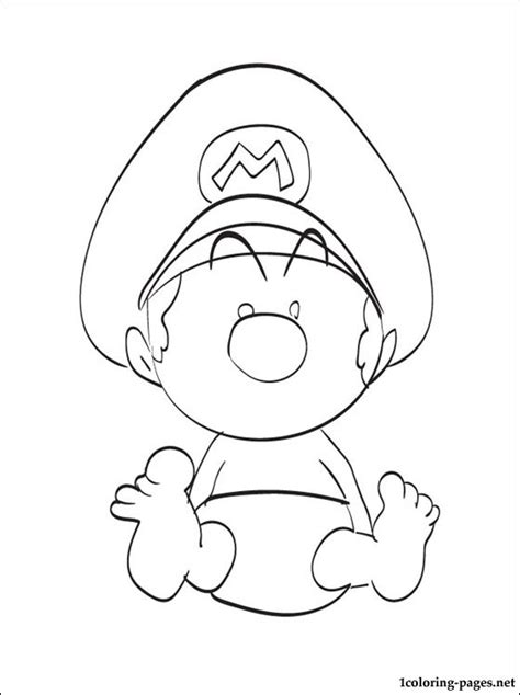 baby luigi coloring page baby mario coloring page coloring pages