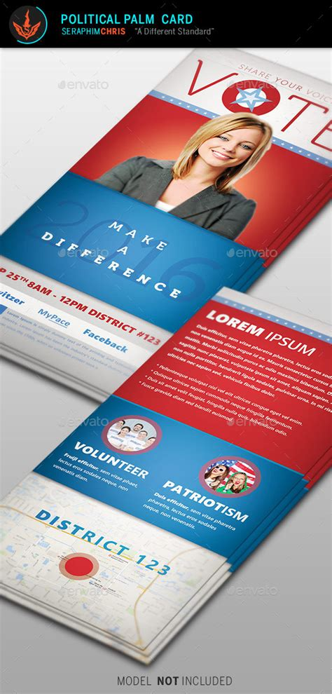 palm card psd template vote political palm card template by seraphimchris