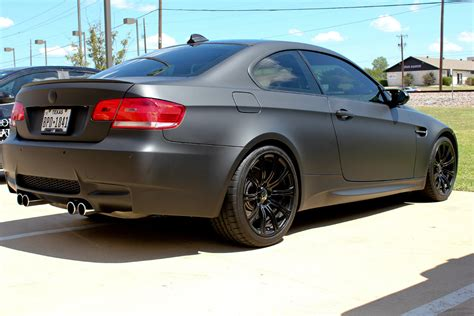 matte wrapped cars matte black bmw car wrap dallas zilla wraps