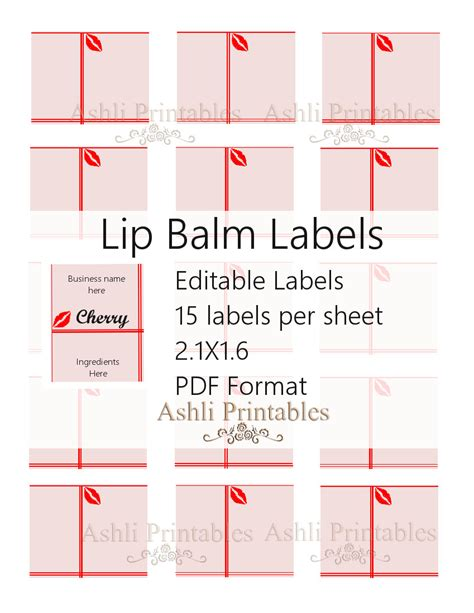 chapstick label template lip balm labels ashlisoapblog