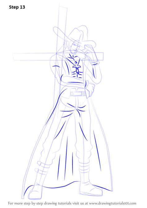 learn   draw dracule mihawk   piece  piece