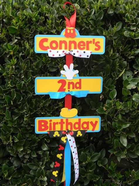 mickey mouse birthday party sign mickey mouse party sign by yourpartyshoppe on etsy