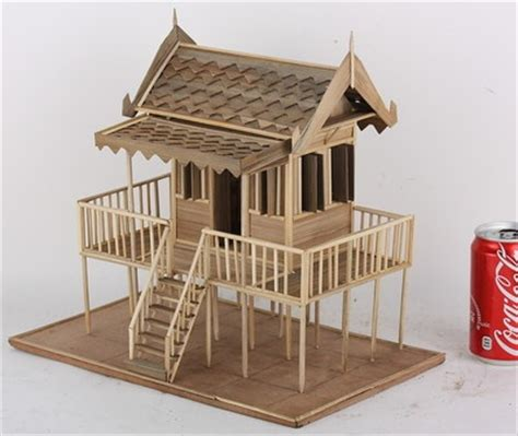 house model thai architectural wood home  story vintage