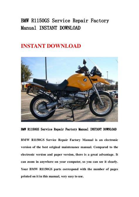 service repair manual free download 2009 bmw 1 series parental controls bmw r1150 gs service repair factory manual instant download