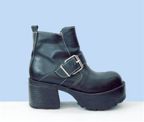 shoes boots 90s style grunge biker motorcycle black