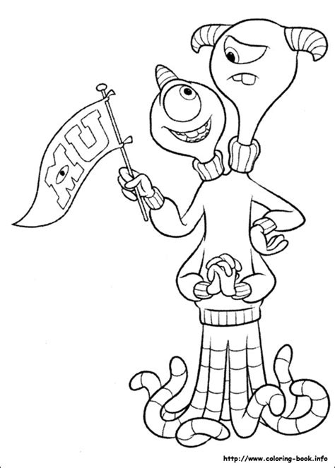 coloring pages for monsters university monsters university coloring picture coloring and