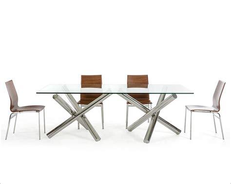 poundex f2153 set1 7 pcs rectangular glass top rectangle glass dining table set lunar rectangle glass