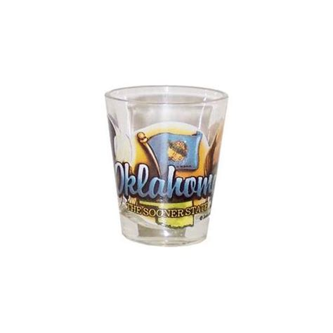Bulk Buys Oklahoma Shot Glass 2. 25H X 2 inch W Elements