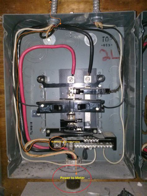 electric cable from meter to breaker box electric free