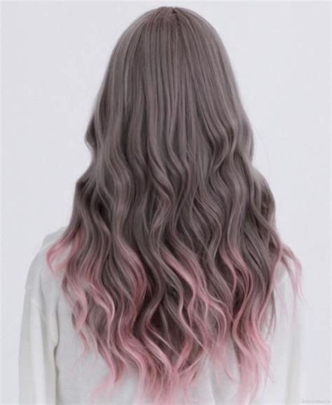 dyed hairstyles for brown hair the gallery for gt dip dye hair brown to pink