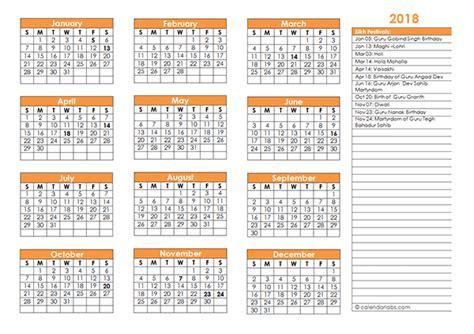 sikh festivals calendar template  printable templates
